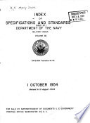 Index of Specifications and Standards Used by Department of the Navy