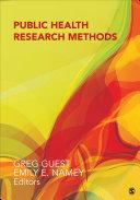 Public Health Research Methods
