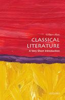 Classical Literature: A Very Short Introduction Pdf/ePub eBook