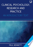 Ebook Clinical Psychology Research And Practice An Introductory Text 4e