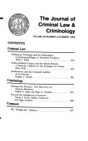 The Journal of Criminal Law & Criminology