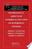 Mathematical Aspects Of Numerical Solution Of Hyperbolic Systems Book PDF