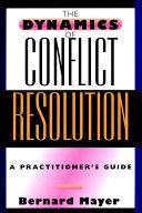 The Dynamics of Conflict Resolution Pdf/ePub eBook