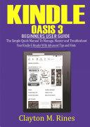 Kindle Oasis 3 Beginners User Guide