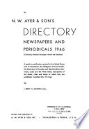 N.W. Ayer & Son's Directory of Newspapers and Periodicals