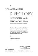 N W Ayer Son S Directory Of Newspapers And Periodicals