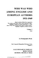 Who was who Among English and European Authors  1931 1949