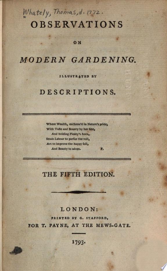 Observations on Modern Gardening