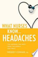 What Nurses Know   Headaches Book