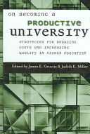 On Becoming a Productive University