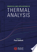 Principles and Applications of Thermal Analysis