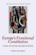 Europe's Functional Constitution Pdf/ePub eBook