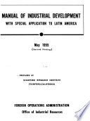 Manual of Industrial Development Book