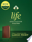 Nlt Life Application Study Bible Third Edition Large Print Red Letter Leatherlike Brown Tan