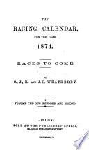 The Racing Calendar For The Year 1874