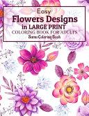 Easy Flowers Designs in Large Print