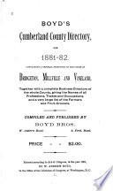 Boyd s Cumberland County Directory