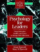Psychology for Leaders
