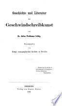 Geschichte Und Literatur Der Geschwindschreibkunst Nachtr Ge Nebst Einem Namen Und Sachregister Zum Ganzen Werke  Book PDF