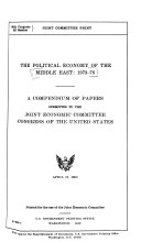 The Political Economy of the Middle East  1973 78