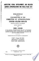 Agriculture  Rural Development  and Related Agencies Appropriations for Fiscal Year 1979