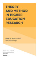 Theory and Method in Higher Education Research Pdf/ePub eBook
