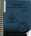Naval Air Station Fallon Geothermal Energy Development For Generation Of Electrical Power Churchill County
