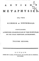 Antient Metaphysics
