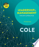 Cover of Leadership and Management: Theory and Practice