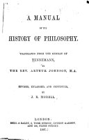 A Manual of the History of Philosophy