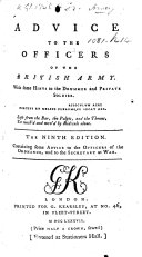 Advice to the Officers of the British Army     The sixth edition  By John Williamson  also attributed to F  Grose
