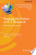 Shaping the Future of ICT Research  Methods and Approaches