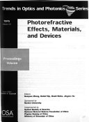 Photorefractive Effects, Materials, and Devices