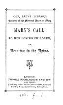 Mary's call to her loving children; or, Devotion to the dying