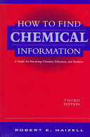 How to Find Chemical Information Book