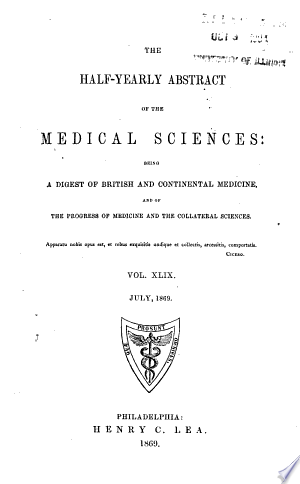 Download The Half-yearly Abstract of the Medical Sciences Free Books - Dlebooks.net