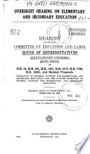 Oversight Hearing On Elementary And Secondary Education