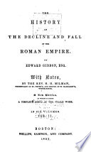 The History of the Decline and Fall of the Roman Empire Book PDF