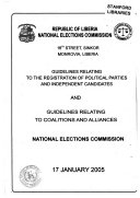 Guidelines Relating to the Registration of Political Parties and Independent Candidates