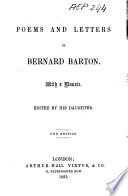 Poems and Letters by Bernard Barton
