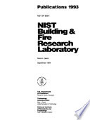 NIST Building & Fire Research Laboratory Publications