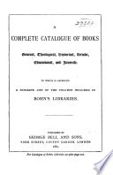 A Complete Catalogue Of Books