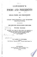 Cowdery's Forms and Precedents
