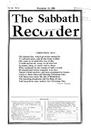 The Sabbath Recorder