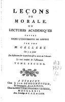 Leçons de morale ou lectures académiques faites dans l'université de Leipzig