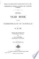 Official Year Book Of The Commonwealth Of Australia No 26 1933