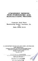 Atmospheric Emissions from Hydrochloric Acid Manufacturing Processes Book