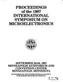 Proceedings of the     International Symposium on Microelectronics