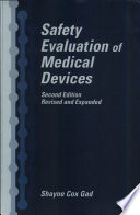 Safety Evaluation Of Medical Devices Book PDF