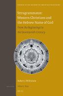 Tetragrammaton  Western Christians and the Hebrew Name of God